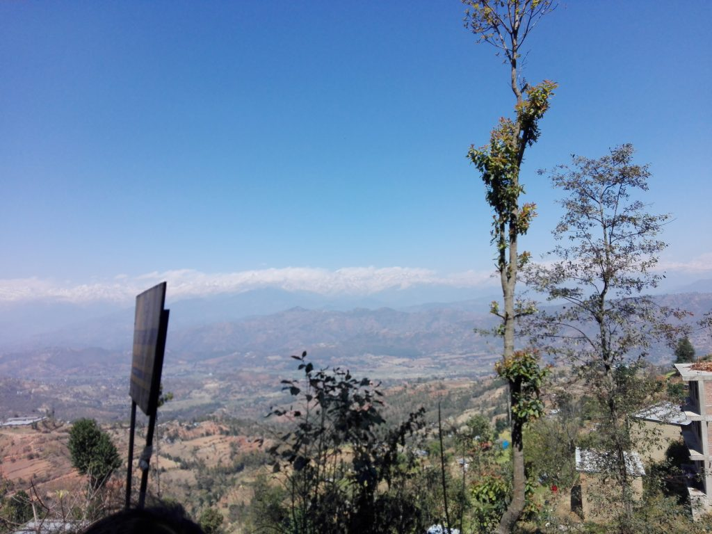 Himalaya-Gebirge in Richtung Mate